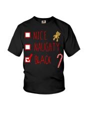 NICE NAUGHTY BLACK Youth T-Shirt thumbnail