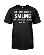ALL I CARE ABOUT SAILING AND BEER Premium Fit Mens Tee thumbnail