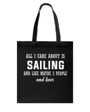 ALL I CARE ABOUT SAILING AND BEER Tote Bag thumbnail