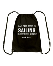 ALL I CARE ABOUT SAILING AND BEER Drawstring Bag tile