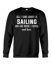 ALL I CARE ABOUT SAILING AND BEER Crewneck Sweatshirt thumbnail