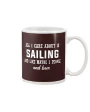 ALL I CARE ABOUT SAILING AND BEER Mug tile