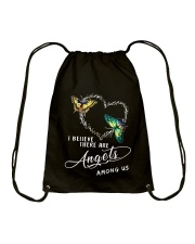 I BELIEVE THERE ARE ANGELS Drawstring Bag thumbnail