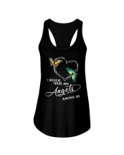 I BELIEVE THERE ARE ANGELS Ladies Flowy Tank thumbnail