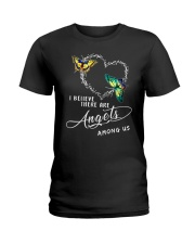 I BELIEVE THERE ARE ANGELS Ladies T-Shirt thumbnail
