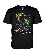 I BELIEVE THERE ARE ANGELS V-Neck T-Shirt thumbnail