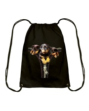 ROTTIES ON SHIRT Drawstring Bag thumbnail