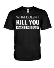 YOU CANT SCARE NURSE V-Neck T-Shirt thumbnail