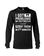 MY ROTTWEILER CREATED 98 PROBLEMS Long Sleeve Tee thumbnail