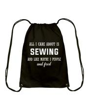 ALL I CARE ABOUT SEWING Drawstring Bag thumbnail