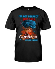 CAPRICORN CLOSE ENOUGH TO PERFECT Classic T-Shirt front