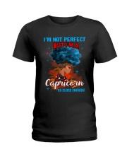 CAPRICORN CLOSE ENOUGH TO PERFECT Ladies T-Shirt thumbnail