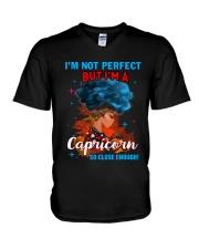 CAPRICORN CLOSE ENOUGH TO PERFECT V-Neck T-Shirt thumbnail
