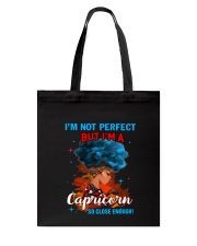 CAPRICORN CLOSE ENOUGH TO PERFECT Tote Bag thumbnail