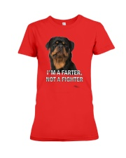 I'M NOT A FIGHTER Premium Fit Ladies Tee front
