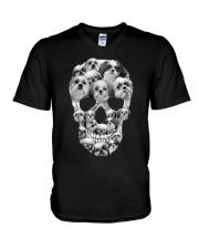 SHIH TZU SKLL V-Neck T-Shirt thumbnail