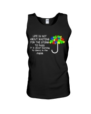 LIFE IS NOT ABOUT WAITING FOR THE STORM Unisex Tank thumbnail