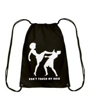 DON'T TOUCH MY HAIR Drawstring Bag tile
