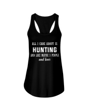 ALL I CARE ABOUT HUNTING AND BEER Ladies Flowy Tank thumbnail
