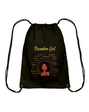 DECEMBER GIRL Drawstring Bag thumbnail
