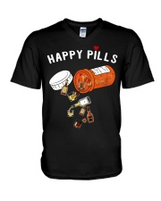 HAPPY PILLS V-Neck T-Shirt tile