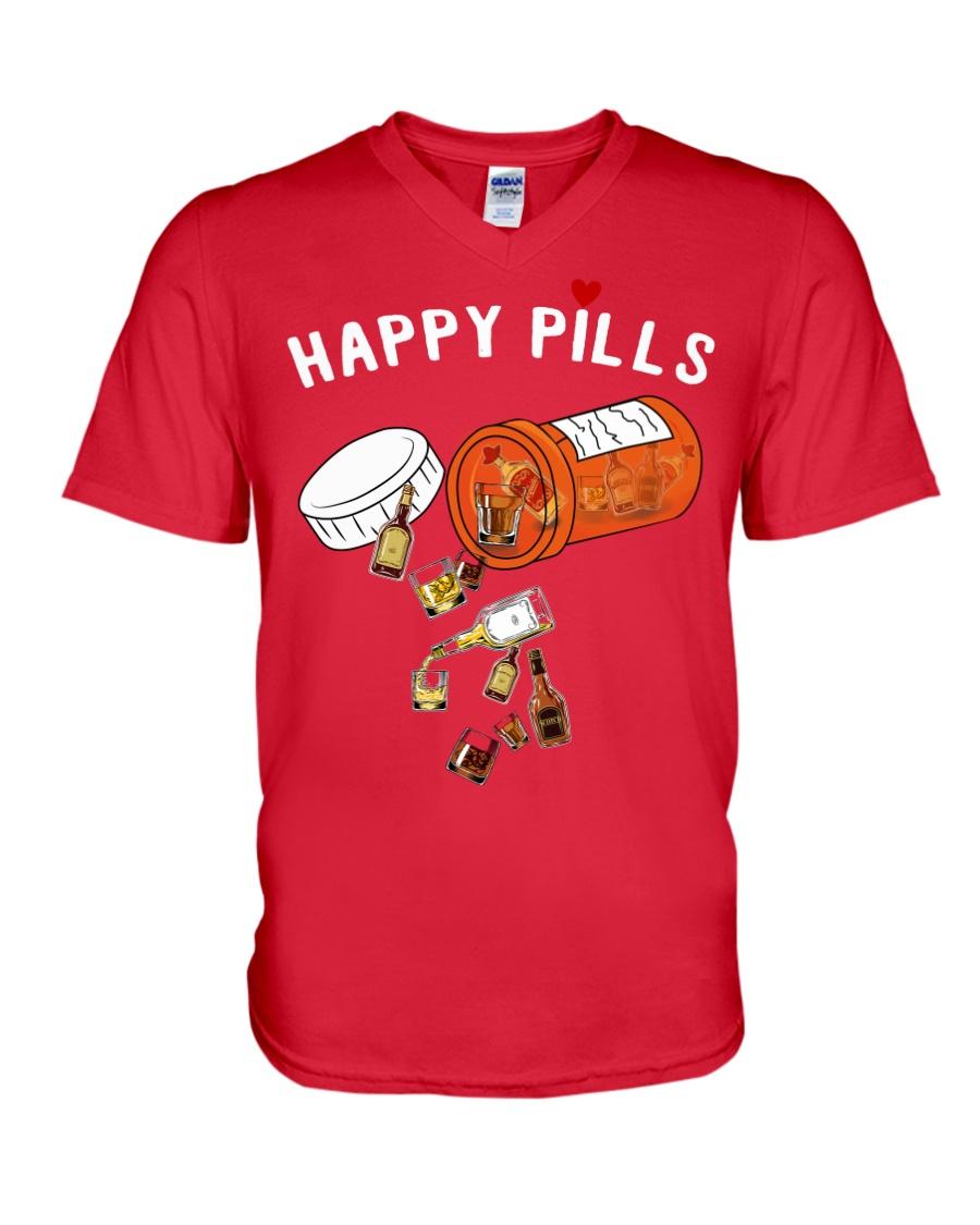 HAPPY PILLS V-Neck T-Shirt