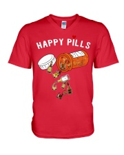 HAPPY PILLS V-Neck T-Shirt front