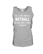 ALL I CARE NETBALL Unisex Tank front