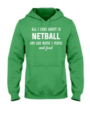 ALL I CARE NETBALL Hooded Sweatshirt front