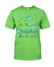 I LOVE DOLPHINS Classic T-Shirt front