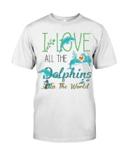 I LOVE DOLPHINS Classic T-Shirt tile