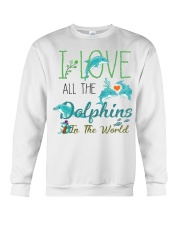 I LOVE DOLPHINS Crewneck Sweatshirt thumbnail
