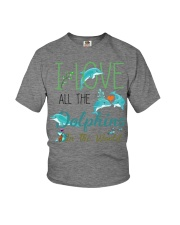 I LOVE DOLPHINS Youth T-Shirt thumbnail
