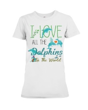 I LOVE DOLPHINS Premium Fit Ladies Tee thumbnail