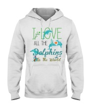 I LOVE DOLPHINS Hooded Sweatshirt thumbnail