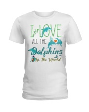 I LOVE DOLPHINS Ladies T-Shirt thumbnail
