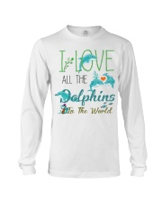 I LOVE DOLPHINS Long Sleeve Tee thumbnail