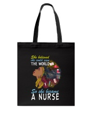 SHE BECAME A NURSE Tote Bag thumbnail