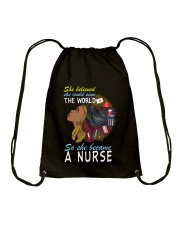 SHE BECAME A NURSE Drawstring Bag thumbnail