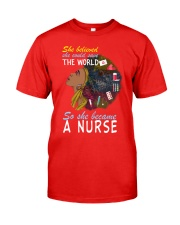 SHE BECAME A NURSE Classic T-Shirt front