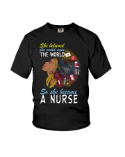 SHE BECAME A NURSE Youth T-Shirt thumbnail