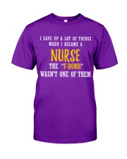THIS NURSE SAYS F Classic T-Shirt front