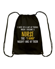 THIS NURSE SAYS F Drawstring Bag thumbnail