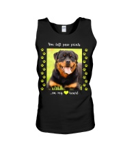 YOU LEFT PAW PRINTS IN MY HEART Unisex Tank thumbnail