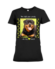 YOU LEFT PAW PRINTS IN MY HEART Premium Fit Ladies Tee thumbnail