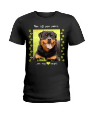 YOU LEFT PAW PRINTS IN MY HEART Ladies T-Shirt thumbnail