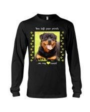 YOU LEFT PAW PRINTS IN MY HEART Long Sleeve Tee thumbnail