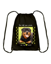 YOU LEFT PAW PRINTS IN MY HEART Drawstring Bag thumbnail