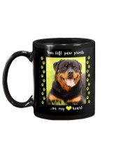 YOU LEFT PAW PRINTS IN MY HEART Mug back