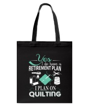 I PLANT ON QUILTING Tote Bag thumbnail